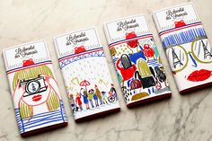 Illustration for the new brand le chocolat des français www. Kids Packaging, Food Packaging Design, Bottle Packaging, Print Packaging, Packaging Design Inspiration, Branding Design, Coffee Packaging, Corporate Design, Design Package
