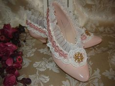 Marie Antoinette Wedding Prom Party shoes by 4myfavoritethings