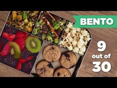 Bento Box Healthy Lunch 9/30 (Vegetarian) - Mind Over Munch - YouTube