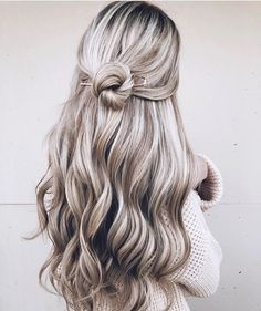 Knot Half up half down hairstyle