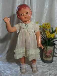 "composition dolls 1930 - 1940 | 22"" Composition Doll Effanbee Patsy Lou Doll 