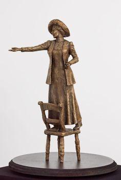 Emmeline Pankhurst - sculpture by Hazel Reeves