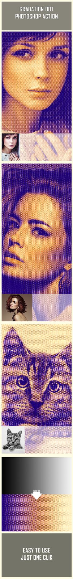 Gradation Dot - #Photo Effects #Actions Download here: https://graphicriver.net/item/gradation-dot/19377512?ref=alena994