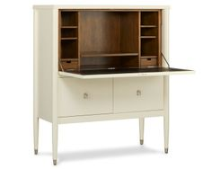 LaCourte Upright Desk, White $3,500