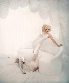 Marilyn as Jean Harlow  Photo by Richard Avedon, 1958