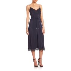 Silk Lace Long Slip