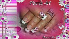 #nails #nailart #gelnail #flower #handmade #white #black #design