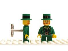 Leprechaun cufflinks. Cufflinks made with LEGOR by Cufflinkhero