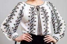 Ie Romaneasca Anica - Chic Roumaine Embroidery Fashion, Couture, Traditional Outfits, Chic, Shirts, Fashion Trends, Shopping, Clothes, Women