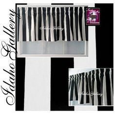 Curtain Black and White Stripe Modern 14 Valance Window Treatment for the Bedroom, Kitchen, Any Room  by Idaho Gallery    Please know your own measurements to be sure of the fit.  Standard rule of thumb for a nice fitting valance is 2 to 3 xs the width of your window in fabric.    Measurements are approximate -  ***********************************  This valance is not lined  Measurements are approximate - Length: 14 (top to bottom)  Width: 53 ( left to right)  Style: This is our 14 valance…