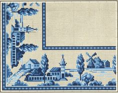 No color chart. Blackwork Cross Stitch, Cross Stitching, Cross Stitch Embroidery, Embroidery Patterns, Cross Stitch Designs, Cross Stitch Patterns, Blue Cross, Chart Design, Delft