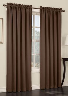 Madison is a solid room darkening drapery with easy to hang stainless steel grommets, enhance the appearance of your window decor with these easy to hang grommet curtains.  #Thermal #Curtains