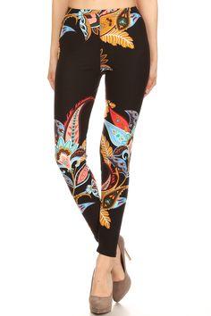 e7dffc72bd21b Paisley Floral Leggings – Ashley By Design Leggings Sale, Knit Leggings,  Plus Size Leggings