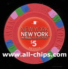 #LasVegasCasinoChip of the Day is a $5 New York New York 3rd issue put out in 2012 you can get here http://www.all-chips.com/ChipDetail.php?ChipID=14072 for $8 UNC #CasinoChip #LasVegas