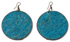 Fique Round Eco Friendly Earrings, turquoise http://www.enloops.com/Fique-Round-Friendly-Earrings-turquoise/dp/B009I9IH4K