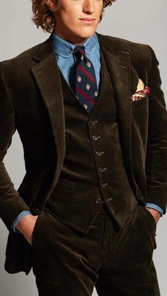 Vests (along with a good pipe) makes a gentleman look distinguished.