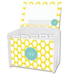 Meyer Recipe Box and Recipe Cards