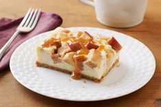 Cheesecake isn't cheesecake without PHILADELPHIA Cream Cheese. Find your joy in a classic cheesecake recipe or dive into something new and unconventional. Kraft Foods, Kraft Recipes, Apple Desserts, Köstliche Desserts, Apple Recipes, Dessert Recipes, Dessert Bars, Fall Recipes, Carmel Apple Cheesecake