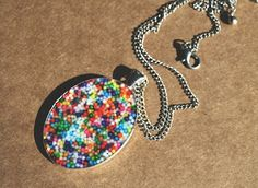 The Moody Fashionista: Rainbow Sprinkles Necklace