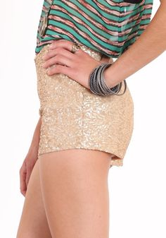 sequinned shorts!