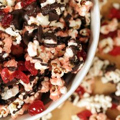 Say Hello to Cherry Garcia Popcorn: Just try one bite of this cherry garcia popcorn, inspired by YouTuber Emily Wu, and you'll immediately know why this was the winner of our Goldbely Eat The Trend giveaway contest.