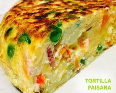 Tortilla paisana de verduras
