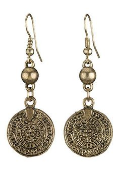 Medallion drop earrings (original price, $8) available at #Maurices