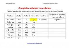 Ejercicios para niños con dislexia Completar palabras con sílabas imagen 4