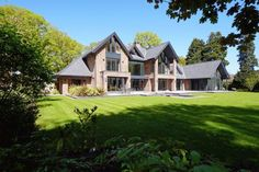 6 bedroom detached house for sale in Fabulous contemporary house in beautiful one acre garden on Leycester Road, Knutsford - Rightmove. Building Design, Building A House, Zen, Arts And Crafts House, Craft House, Floating Staircase, Dream House Exterior, Detached House, My Dream Home