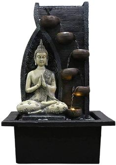 indoor water fountain living rooms home Lcxligang Indoor Buddha Fountain Water Fountain Living Room Decoration Buddha Statue Indoor Tabletop Water Fountain, Table Fountain, Fountain Lights, Diy Fountain, Indoor Water Fountains, Buddha Statue Home, Buddha Home Decor, Buddha Statues, Angel Statues