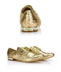 Glitter Gold Oxfords