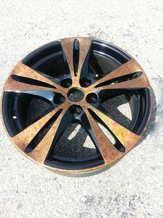 Woodgrain wheel hydrographics