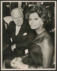 Sophia Loren with Charlie Chaplin