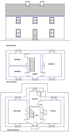 Caragh traditional irish cottage house plans ground floor for Traditional irish house plans