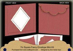 DRed Dotty Diamond 7x7inch Easy Envelope Mini Kit on Craftsuprint - Add To Basket!