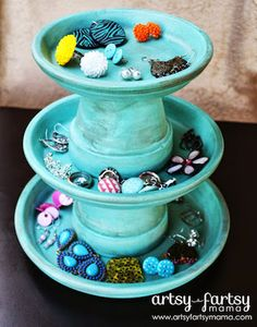 DIY Jewelry storage  this could be made into a candy dish on reception tables