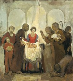 Nativity- Poster of an original oil painting by Bruce Hixon Smith.