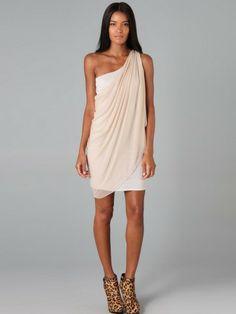 Sheath / Column One Shoulder Ruffles  Sleeveless Short / Mini  Chiffon Ivory Cocktail Dress / Homecoming Dress