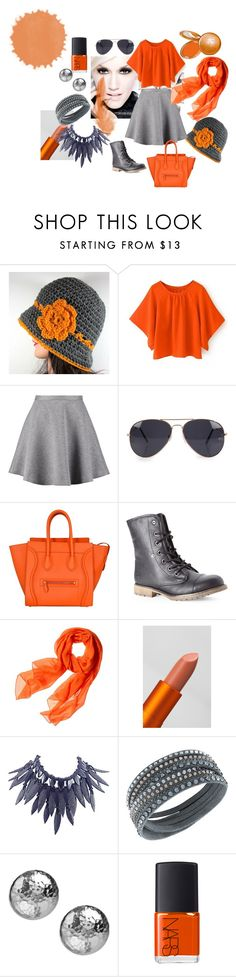 """orange outfit"" by ummeasma ❤ liked on Polyvore featuring L'Oréal Paris, Tiger of Sweden, NLY Accessories, Dirty Laundry, Reed Krakoff, Lipstick Queen, Giorgio Armani, Swarovski, Ippolita and NARS Cosmetics"