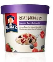 ~Glamamama's Goodies~: Quaker REAL MEDLEYS Summer Berry Oatmeal Review