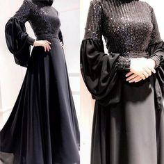 50 Ideas For Dress Brokat Satin Muslim Islamic Fashion, Muslim Fashion, Modest Fashion, Fashion Dresses, Trendy Fashion, Style Fashion, Hijab Evening Dress, Hijab Dress Party, Evening Dresses