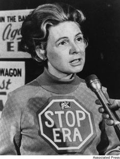 A much younger Phyllis Schlafly, campaigning against feminism & the E R A / Equal Rights Amendment Women's Liberation Movement, Phyllis Schlafly, Equal Rights Amendment, Find A Husband, Womens Liberation, Anti Feminist, Feminist Movement, Gender Studies, Women In History