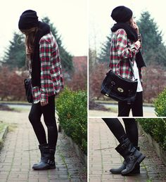 If I could, I would live in a flannel and leggings.