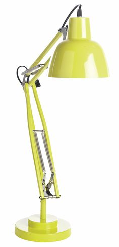 This lime green lamp is just the thing to brighten your desk. http://bq.co.uk/UwvF6u #desklamp #lime