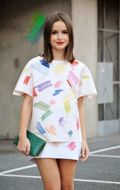 Miroslava Duma in a Vika Gazinskaya dress.
