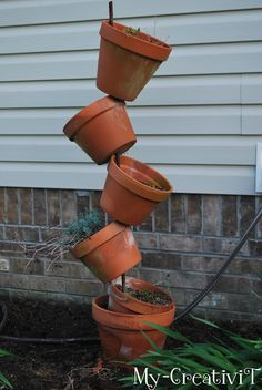 diy unique planters | ... have aunique and cute tipsy stackable planter that is one of kind. J