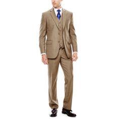 Kenneth Cole Reaction Slim-Fit Brown Sharkskin Suit   macys.com ...