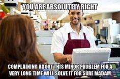 Customer complaint humor