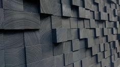 Cloison en bois Art  Reine Headbord  bois mosaïque par WallWooden