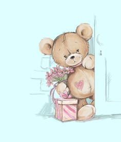 Teddy Boy Sticker by Creativeaxle - White Background - Purple Wallpaper Iphone, Cute Wallpaper Backgrounds, Disney Wallpaper, Cute Wallpapers, Teddy Drawing, Kids Prints, Canvas Prints, Birthday Wishes Flowers, Teddy Pictures